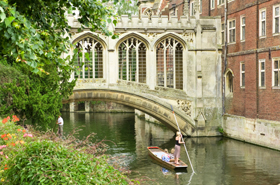St John's College in Cambridge University, England